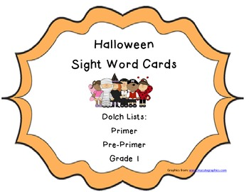 Halloween Dolch Sight Words