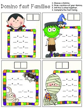 Halloween Domino Fact Families
