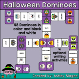Halloween Domino Game with Writing Activity Options - Hall