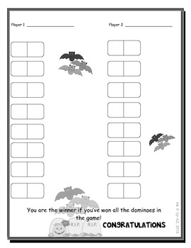 Halloween Domino War (Multiplication)