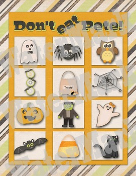 Halloween Don't Eat Pete - Party Game Printable