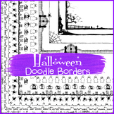 Halloween Doodle Borders - Halloween Borders  {The Teacher Stop}