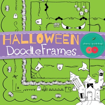 Halloween Borders / Halloween Doodle Borders/ Halloween Frames {Commercial Use}