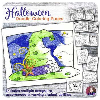 Halloween Doodle Coloring Activities 2017