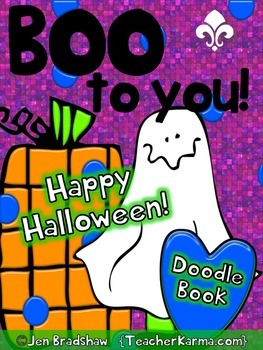 Halloween Doodle Coloring Book ~ Holiday Gift ~ Fall ART