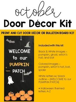 October Bulletin Board or Door Display Kit