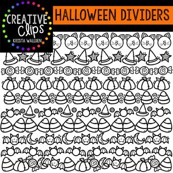 Halloween Doodle Dividers {Creative Clips Digital Clipart}