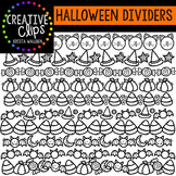 Halloween Doodle Dividers {Creative Clips Digital Clipart}
