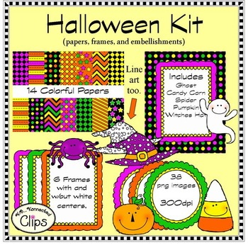 Halloween Doodle Kit (Papers, Frames and Characters)
