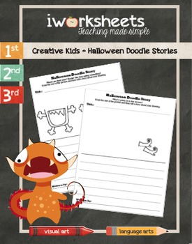 Halloween Doodle Stories - Creative Writing Worksheets