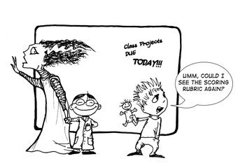Halloween Doodle - The Bride In School