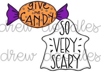 Halloween Doodles Digital Clip Art Set