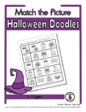 Halloween Doodles Object Matching - Print, Answer & Color