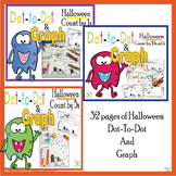 Halloween Dot-To-Dot and Graph Bundle- Count by 1s, 2s, 5s, 10s