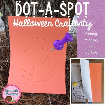 Halloween Dot a Spot Speech Therapy Pin Art Craft
