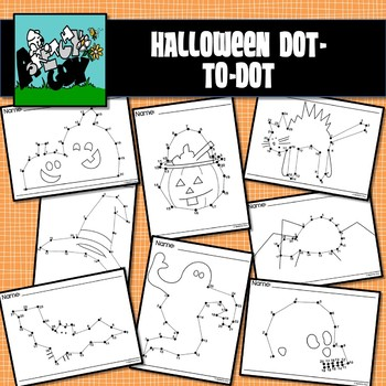 Dot to Dot / Connect the Dots 1 - 20 / 25 - HALLOWEEN HOLIDAY