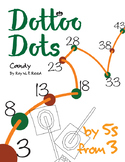 Halloween Dot to Dot page, Candy, Count by 5s, start at 3