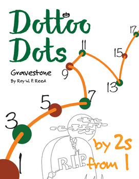 Halloween Dot to Dot page, Gravestone, Count by 2s, start at 1