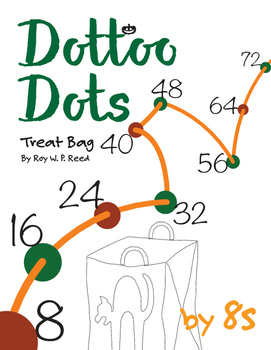 Halloween Dot to Dot page, Treat Bag, Count by 8s