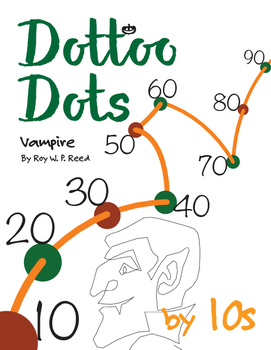 Halloween Dot to Dot page, Vampire, Count by 10s