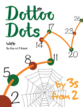 Halloween Dot to Dot page, Web, Count by 3s, start at 2