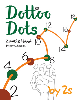 Halloween Dot to Dot page, Zombie Hand, Count by 2s