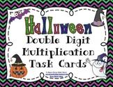 Halloween Double Digit Multiplication Task Cards