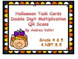 Halloween Double Digit Multiplication Task Card
