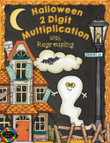 Halloween Double Digit Multiplication With Regrouping, Two Digit Multiplication