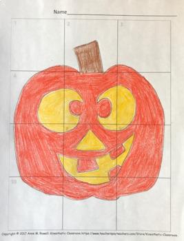 Halloween Double Digit Multiplication Worksheets: Grid Drawing Math Fun!
