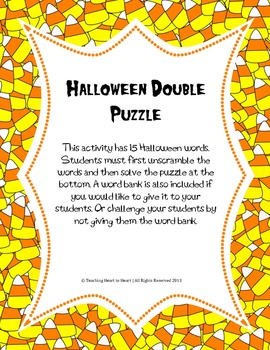 Halloween Double Puzzle