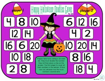 Halloween Doubles - A Simple Game To Practice The Doubles Addition Strategy
