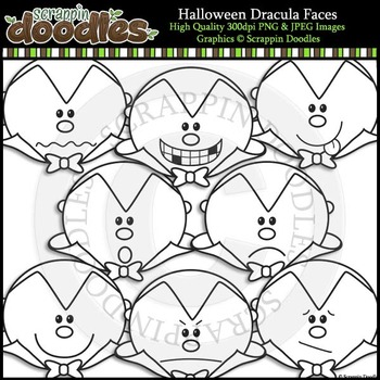 Halloween Dracula Faces