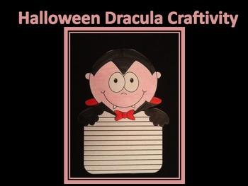 Halloween Dracula Writing Craftivity