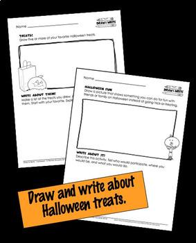 Halloween Writing Draw and Write