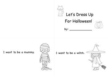 Halloween Dress Up Book Activity