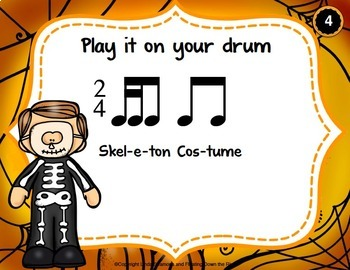 Halloween Drumming for Rhythm Fun, Composing, and Performance (2/4)