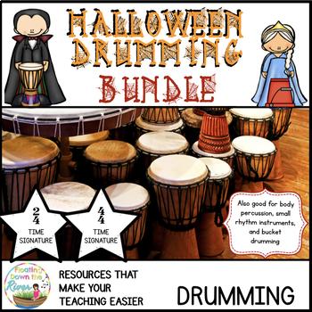 Halloween Drumming Bundle for Rhythm Fun, Composing, and Performance (2/4 & 4/4)