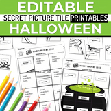Halloween EDITABLE Secret Picture Tile Printables