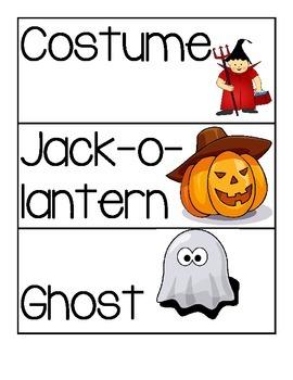 Kindergarten Halloween ELA Activities