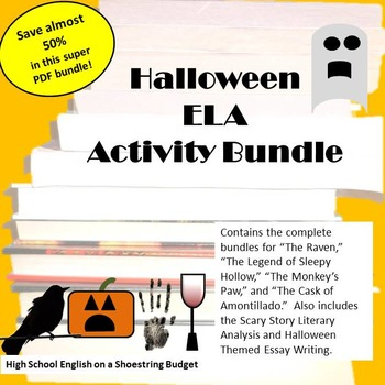 Halloween ELA Activity Bundle - PDF