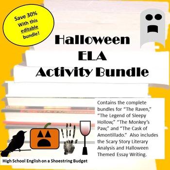 Halloween ELA Activity Bundle - Word