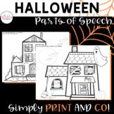 Halloween ELA Activity - Parts of Speech