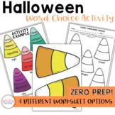 Halloween ELA Activity - Word Choice