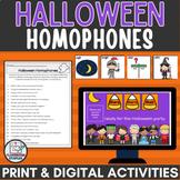 Halloween ELA Activity for Google Slides™ Homophones Pract
