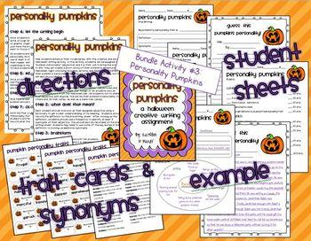 Halloween ELA Bundle: Homophones, Sentence Types, Creative Writing