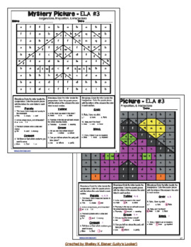 5th Grade Halloween ELA Color by Code Mystery Puzzles
