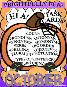 Halloween Activities ELA Task Cards! Grades 2 - 4  Frightfully Fun!