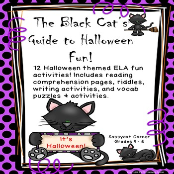 Halloween ELA Vocabulary and writing activities