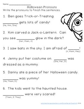 Halloween ELA Worksheets